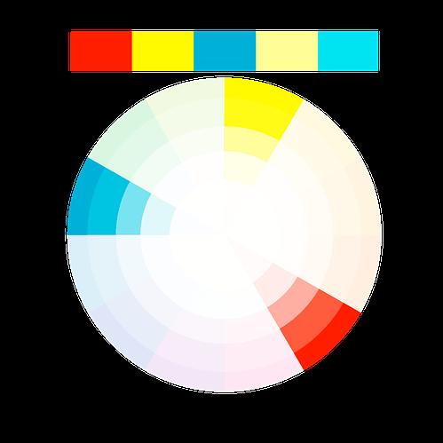 Schema dei colori triadici